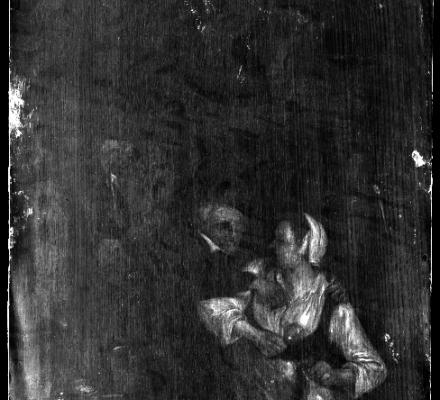 02 17e eeuws paneeltje 33 x 28 cm
